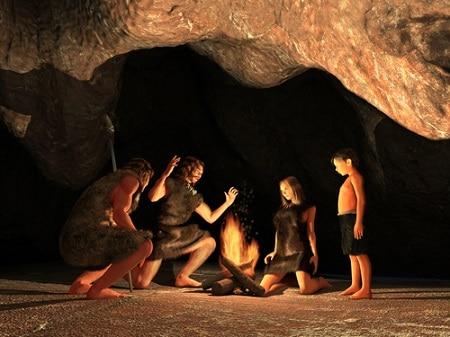 uomo delle caverne