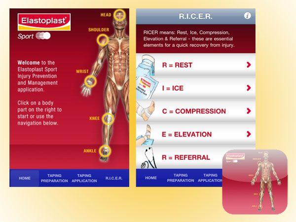 Applicazione Elastoplast Injury Management