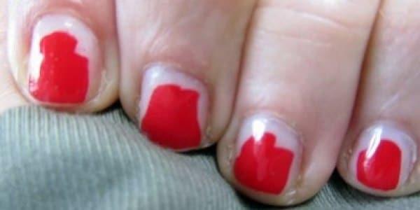 unghie scheggiate manicure